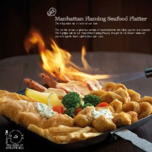 Manhattan Flaming Seafood Platter